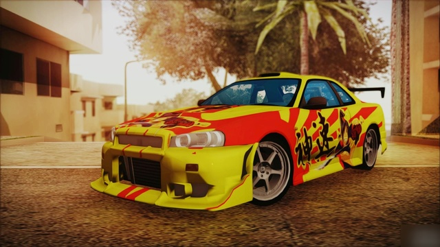 "GTA SA ""Nissan Skyline Street Racing Syndicate"""