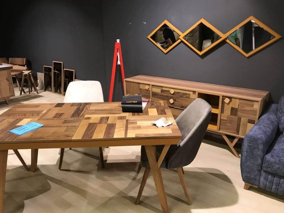 მაგიდ სკამები დესაუ სარკე ახალი