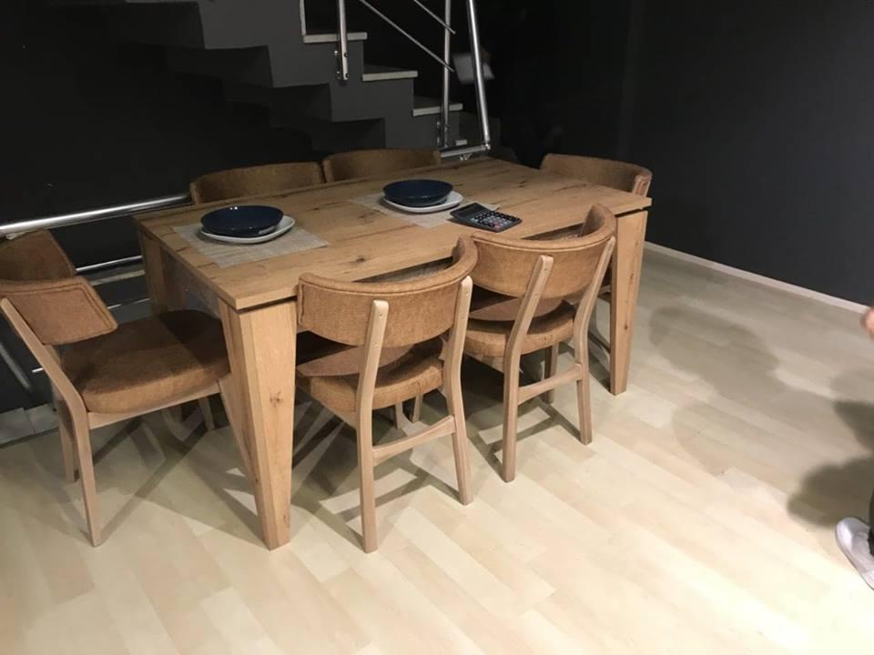 მაგიდა 6 სკამით რუმინეთი