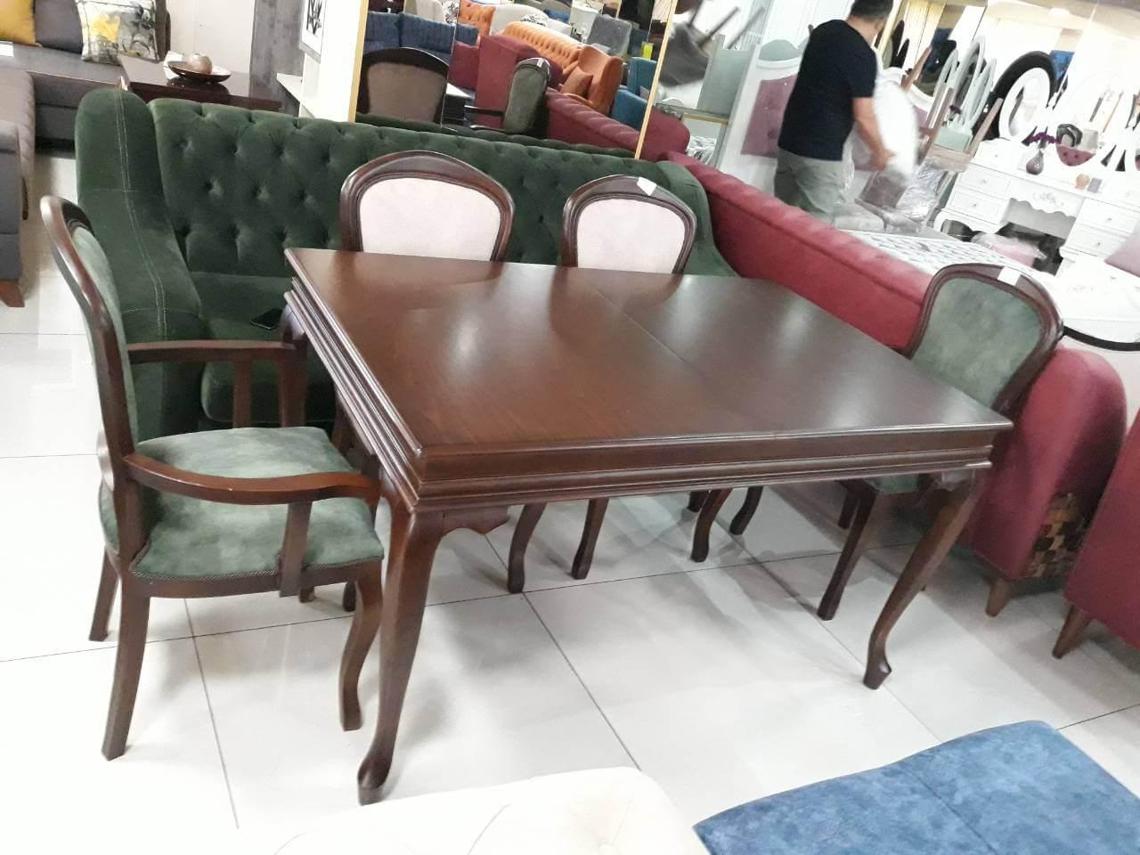 მაგიდა სკამები ხე რუმინეთი
