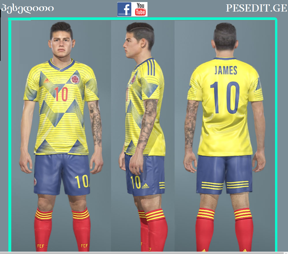PES 2017 Colombia 2019 Kit Local For All Patches