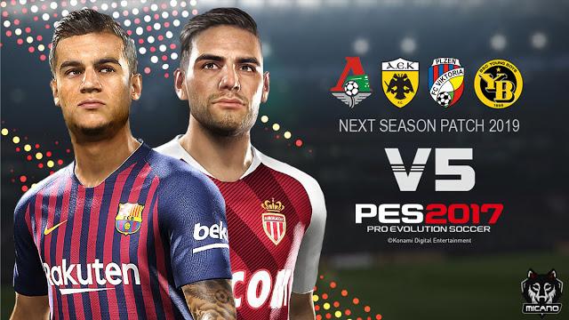PES 2017 Next Season Patch 2019 Update v5.0 AIO