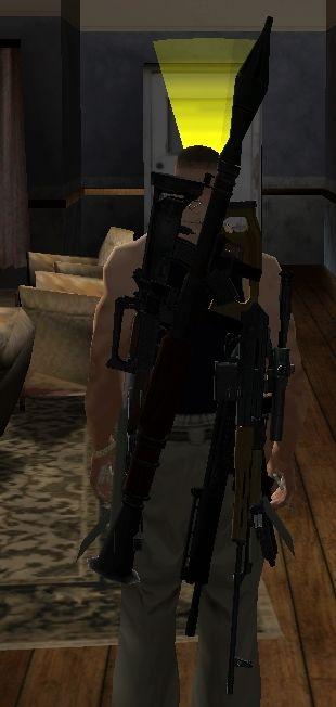 იარაღი ზურგზე