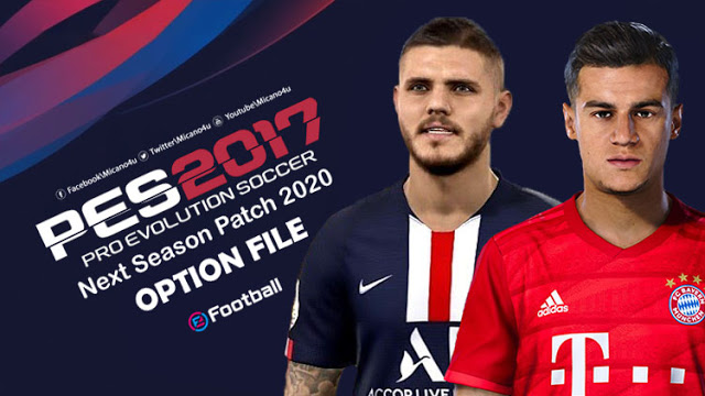 PES 2017 Next Season Patch 2020 Option File