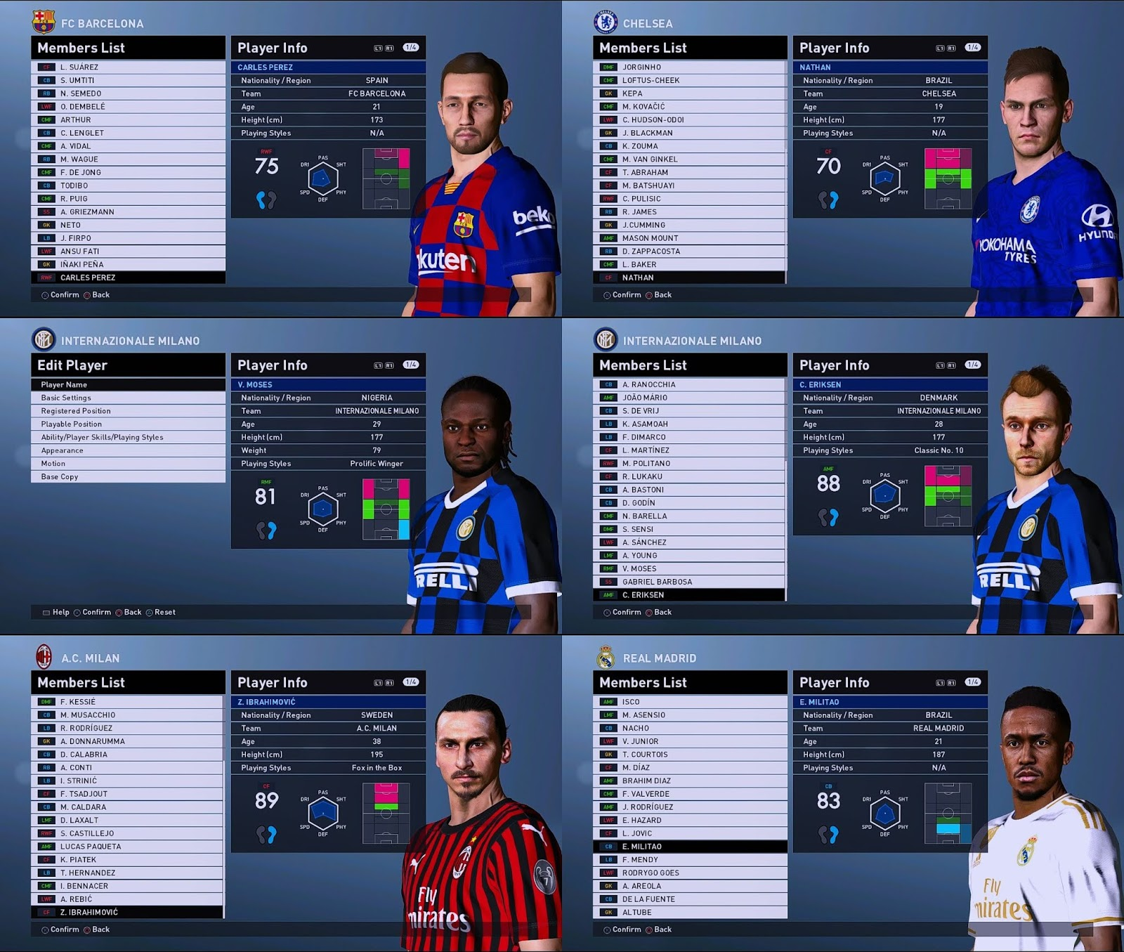 PES 2016 Option File PES Professionals Patch 2016 Season 2019/2020