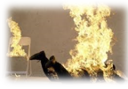 თუ ცეცხლი მოედო ტანსაცმელს?