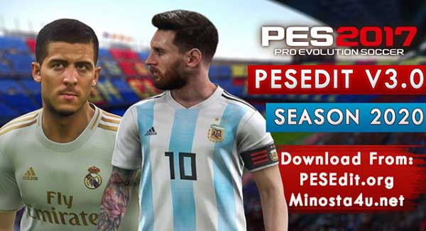PES 2017 PESEdit V3.0 NEW SEASON PATCH 2020 AIO