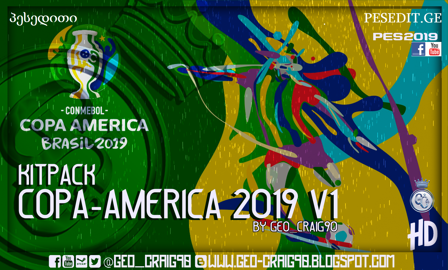 Kits Pack Copa America 2019 V.1 HD