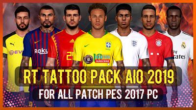 PES 2017 Mega Tattoo Pack AIO ( +800 Tattoo )