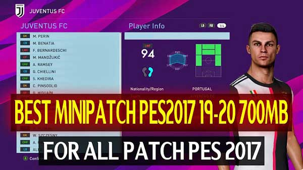 PES 2017 Best Mini Patch Season 2019/20