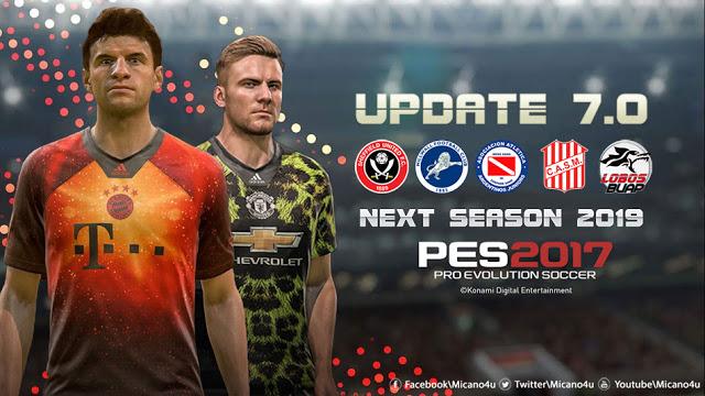 PES 2017 Next Season Patch 2019 Update  v7.0