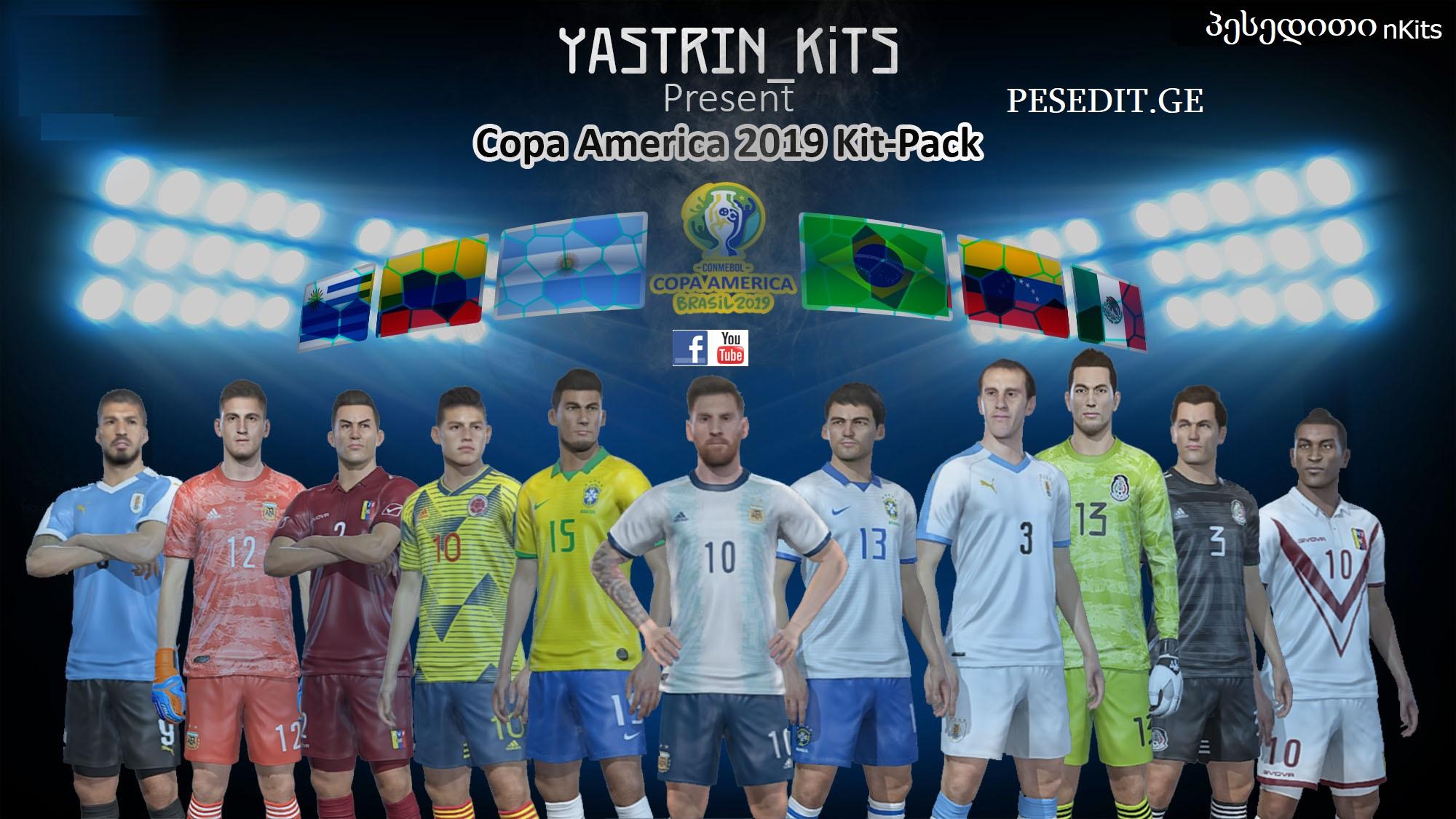 PES2019 Copa America 2019 KitPack V2.0