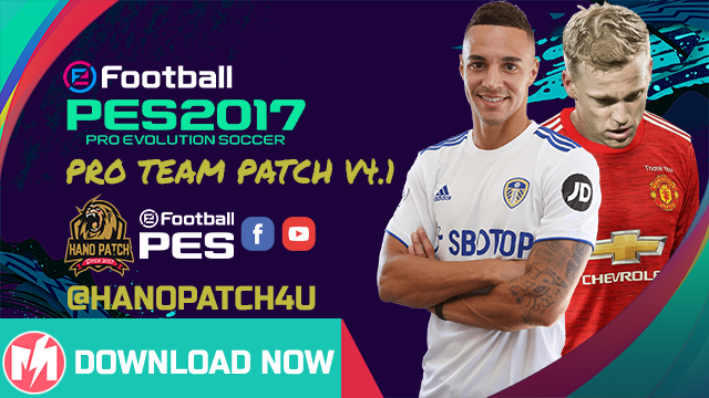 PES 2017 PRO Team Patch V4.1 New Update Season 2021