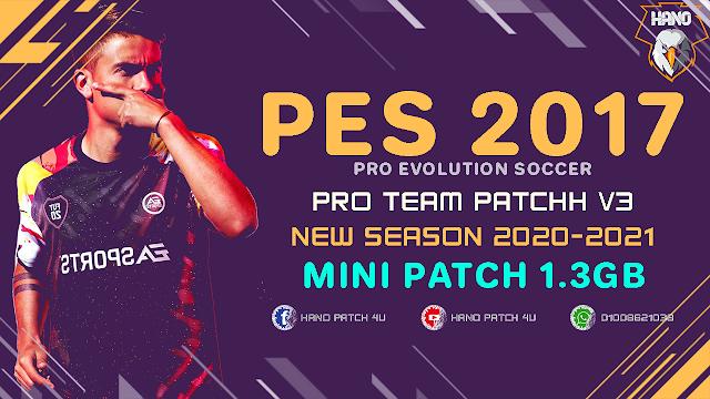PES 2017 Pro Team Patch v3.0 2020/2021