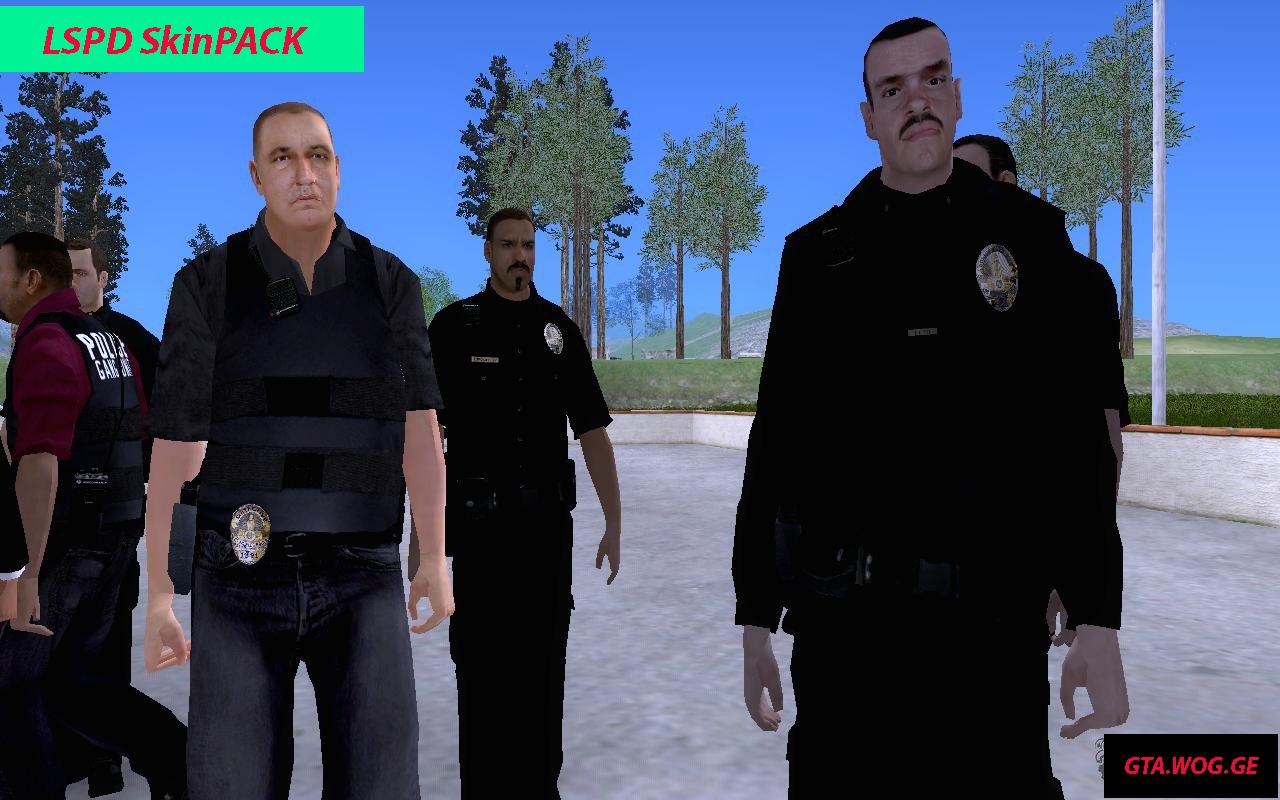 [SKIN] LSPD Skinpack FOR GTA: San Andreas