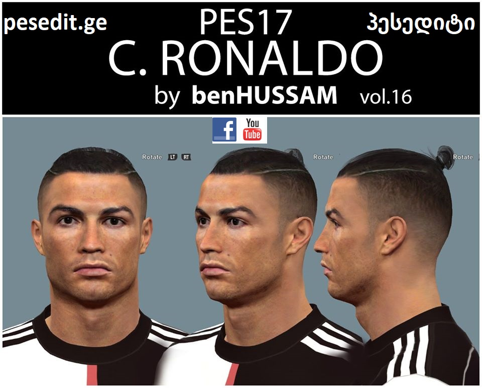 PES 2017 Face Ronaldo (Juventus) by benHUSSAM Facemaker