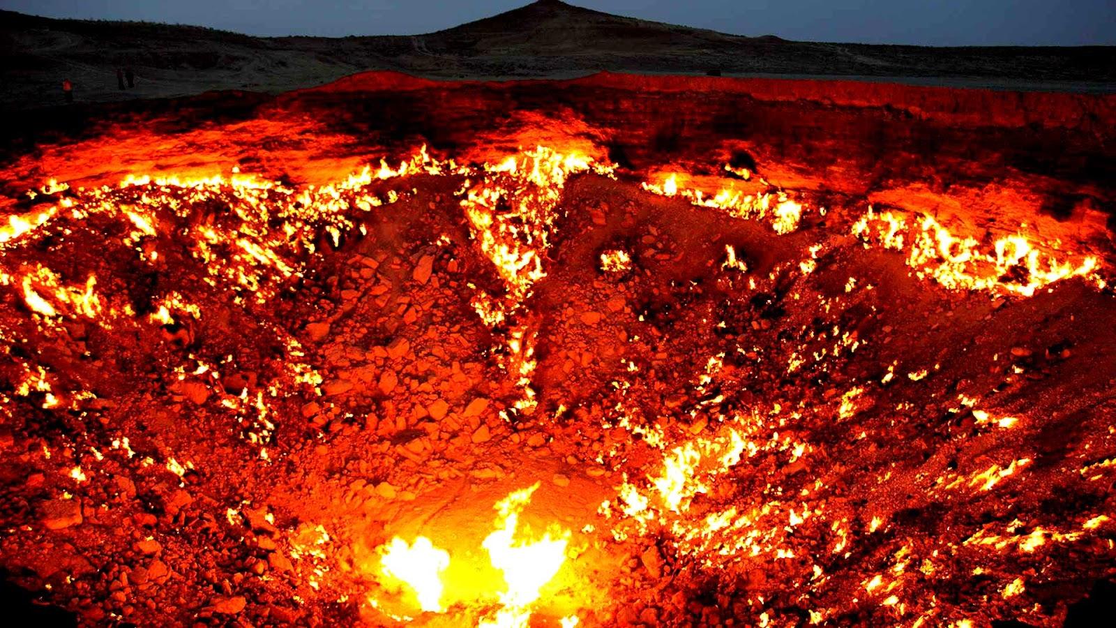 """""""ჯოჯოხეთის კარიბჭე"""" - მისტიური ადგილი თურქმენეთში, სადაც ცეცხლი 50 წელზე მეტია არ ქრება!"""
