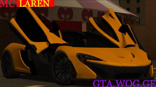 [CARS] McLaren P1 2013 FOR GTA: San Andreas !!!