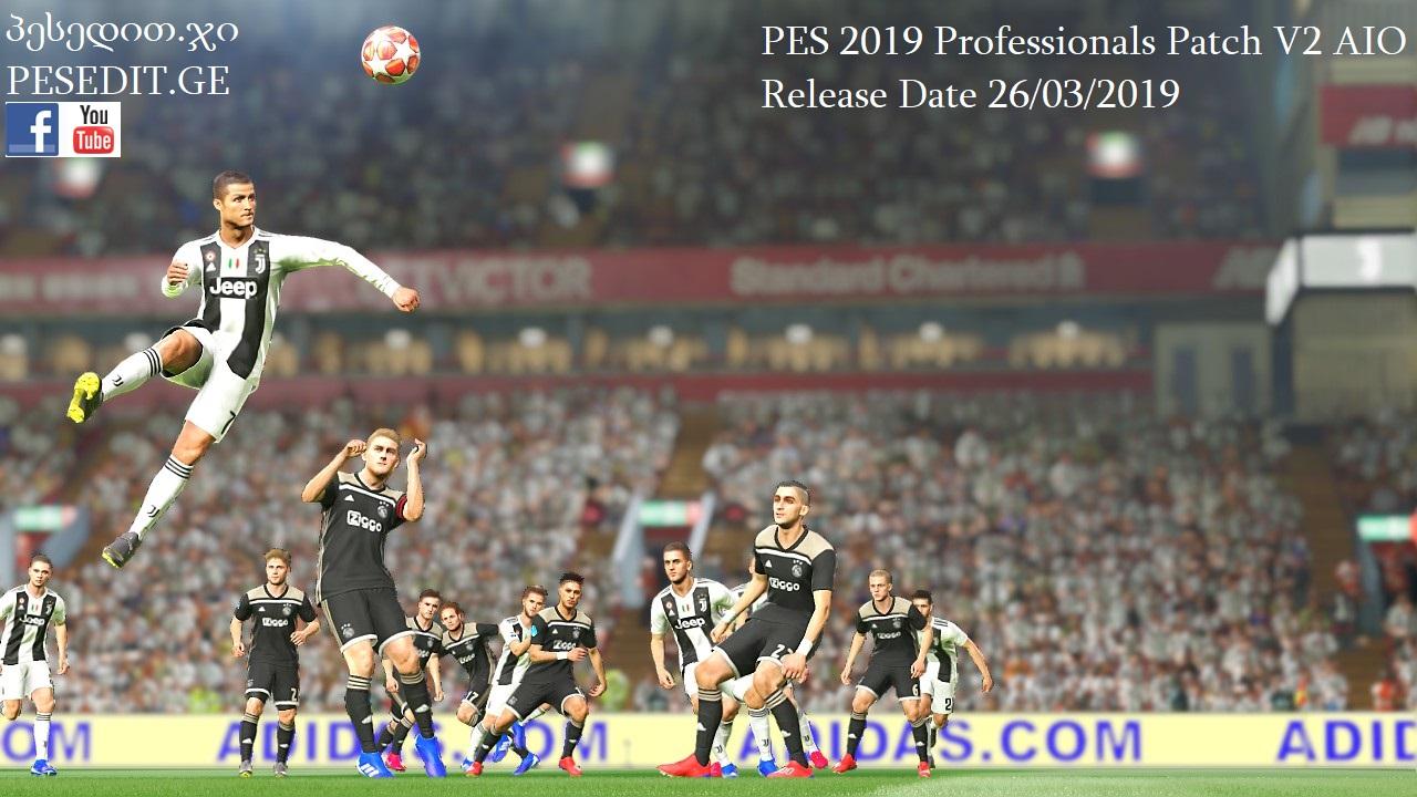 PES 19 PROFESSIONAL PATCH V2